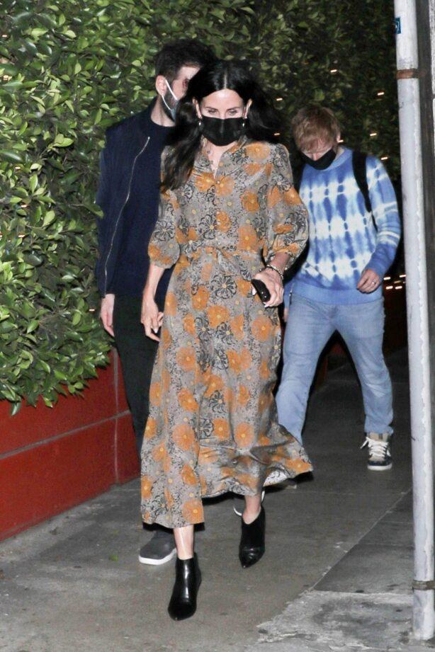 Ed Sheeran - With Courteney Cox seen leaving Giorgio Baldi restaurant in Santa Monica