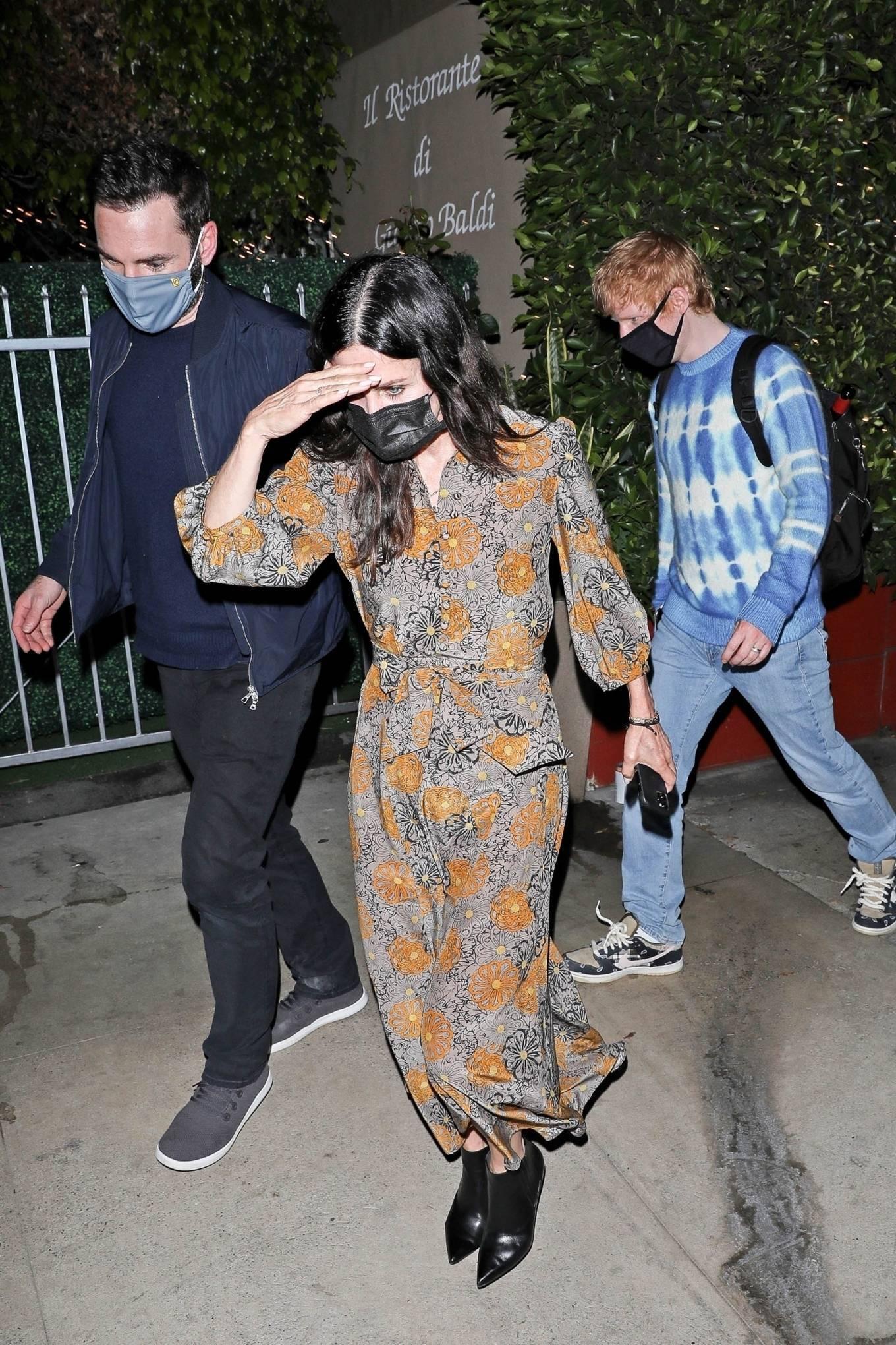 Ed Sheeran 2021 : Ed Sheeran – With Courteney Cox seen leaving Giorgio Baldi restaurant in Santa Monica-14