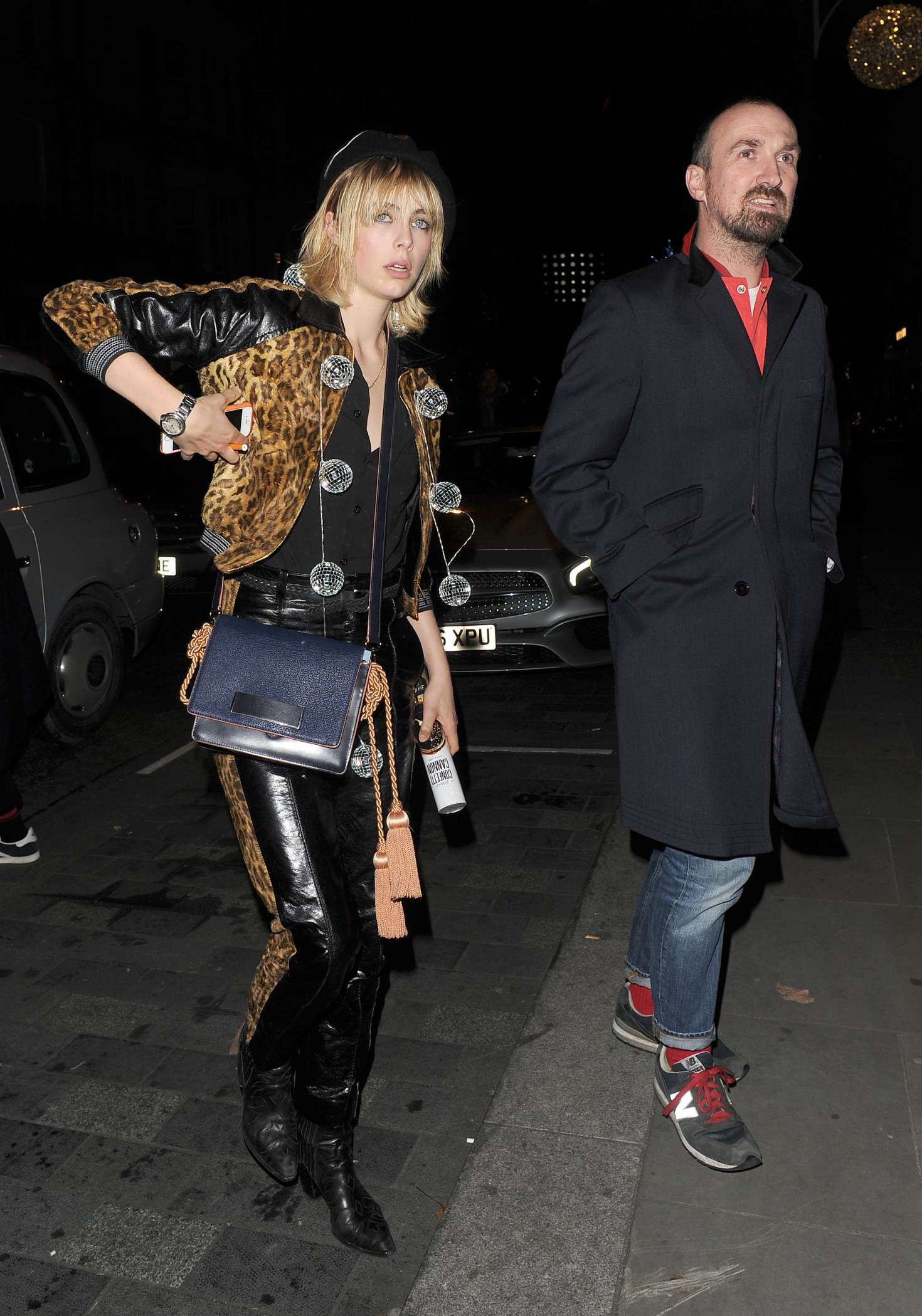 Edie Campbell at Love Magazine Xmas party in Mayfair