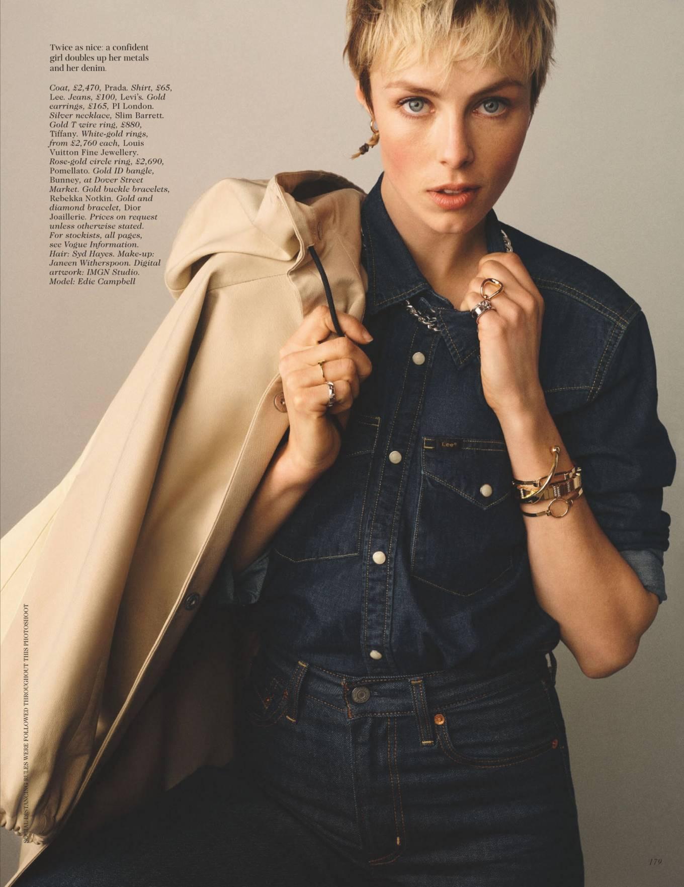 Edie Campbell 2021 : Edie Campbell – British Vogue – May 2021-06