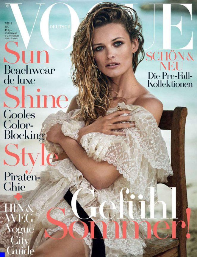 Edita Vilkeviciute - Vogue Germany Cover (July 2016)