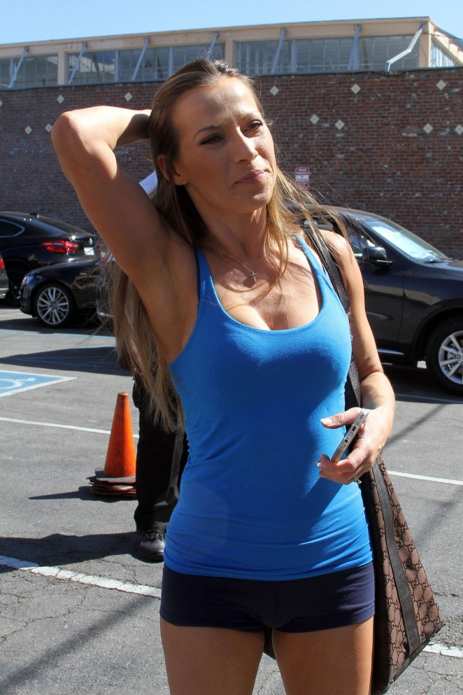 Edyta Sliwinska - Arriving at the DWTS studio in Hollywood