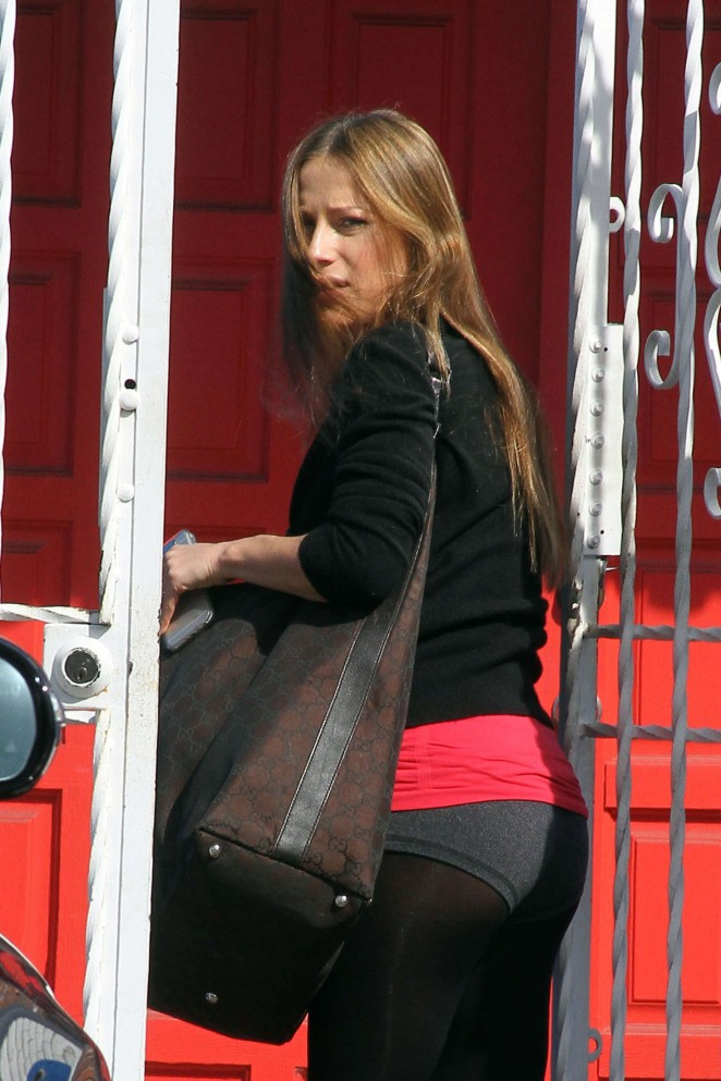 Edyta Sliwinska in Tights at DWTS Rehearsals in Hollywood