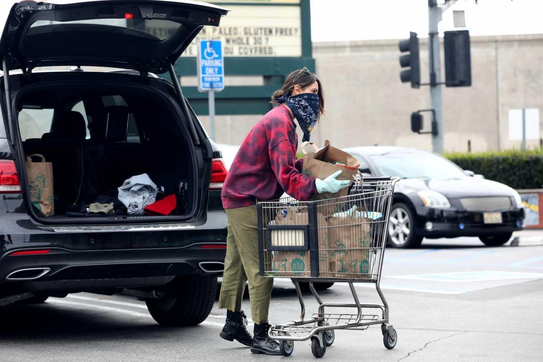 Eiza Gonzalez 2020 : Eiza González wears a Mask for the Grocery Store-09