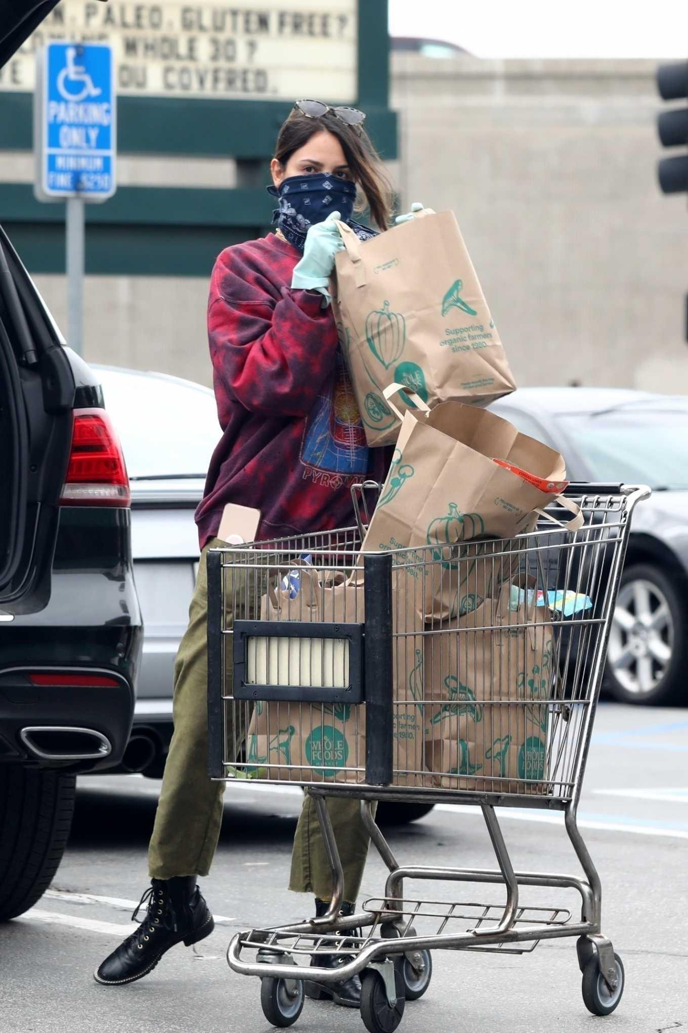 Eiza Gonzalez 2020 : Eiza González wears a Mask for the Grocery Store-17