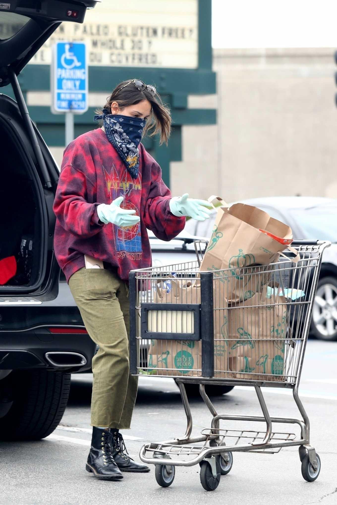 Eiza Gonzalez 2020 : Eiza González wears a Mask for the Grocery Store-20