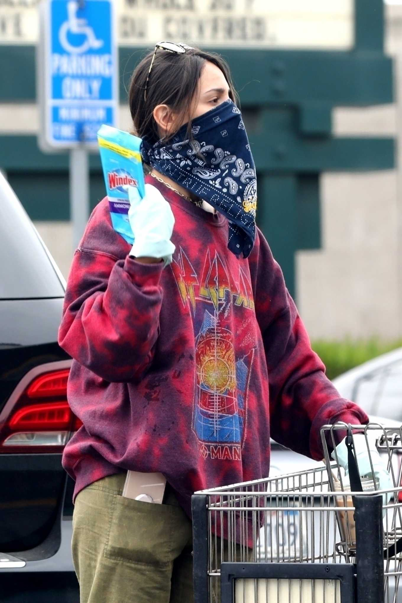 Eiza González wears a Mask for the Grocery Store