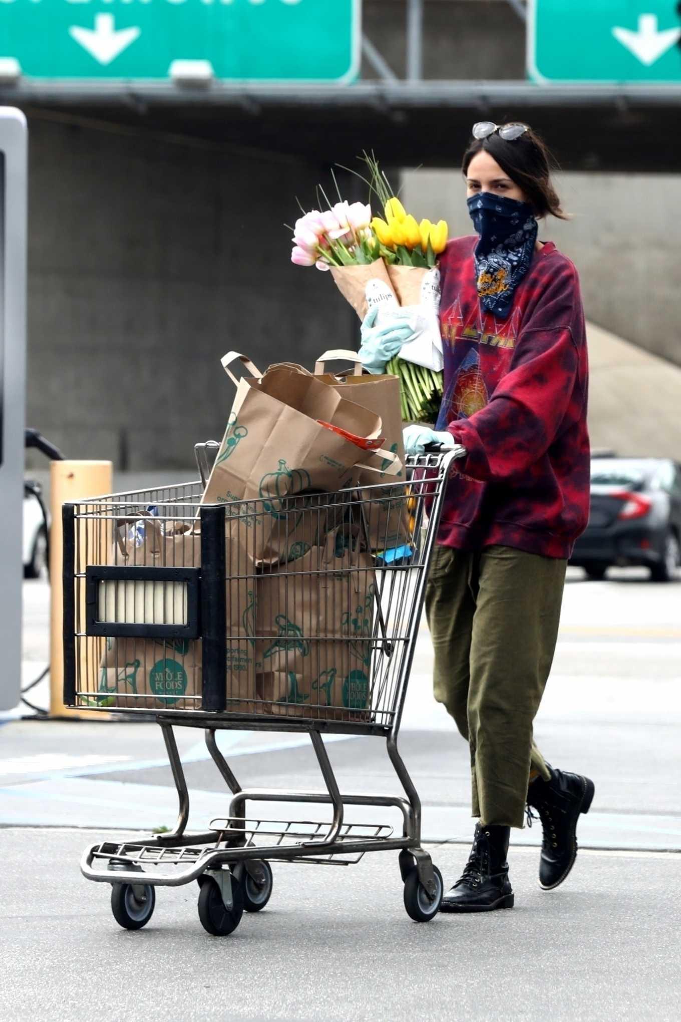 Eiza Gonzalez 2020 : Eiza González wears a Mask for the Grocery Store-27