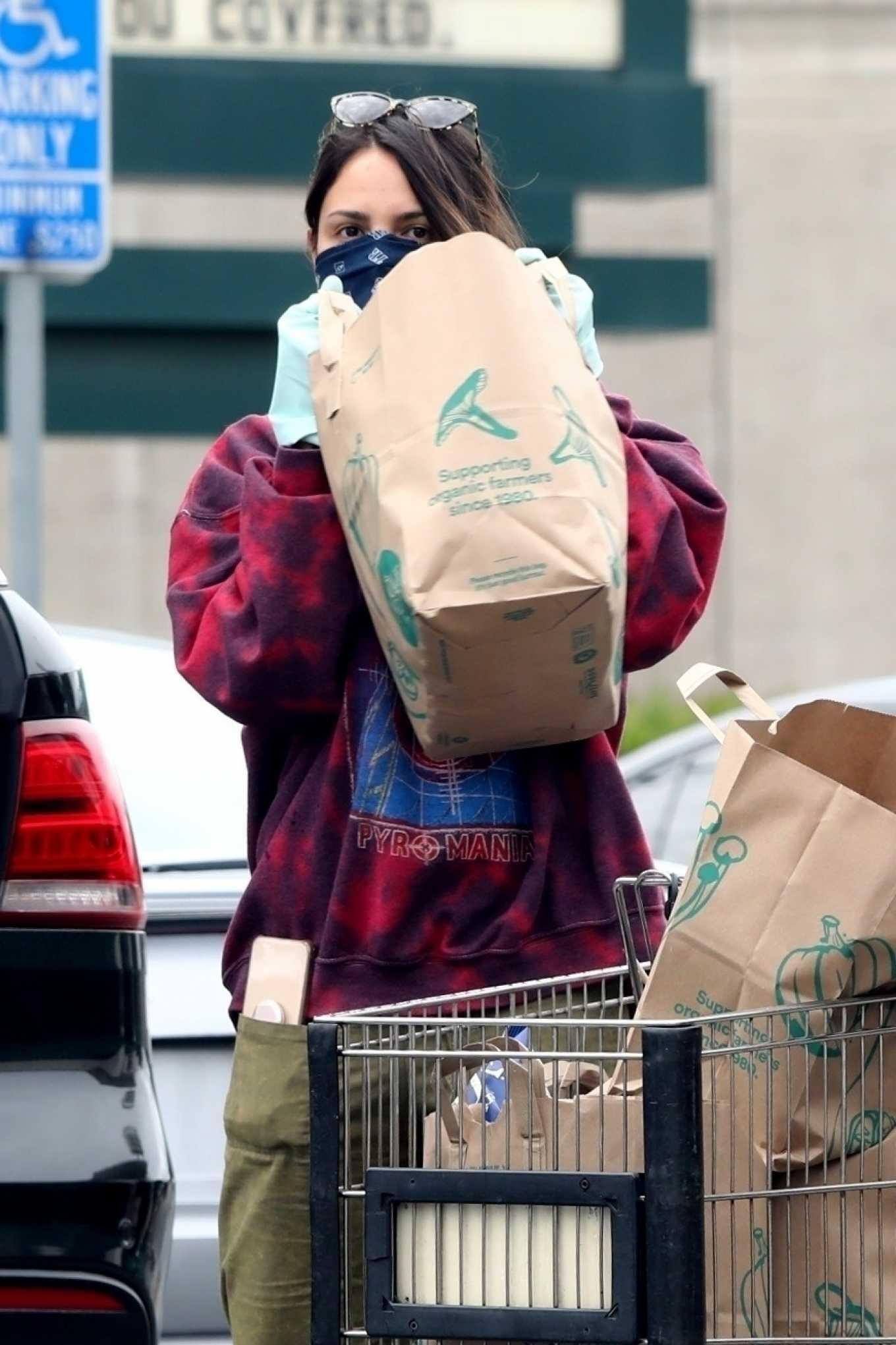 Eiza Gonzalez 2020 : Eiza González wears a Mask for the Grocery Store-28