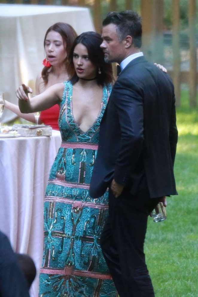 Eiza Gonzalez and Josh Duhamel at Ashley Greene's Wedding in San Jose