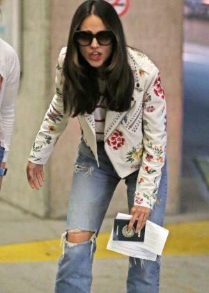 Eiza Gonzalez - Arrives in Vancouver