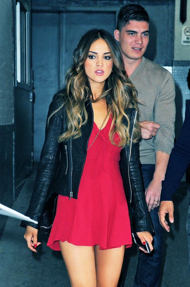 Eiza Gonzalez - Arriving at HuffPost Live in NY