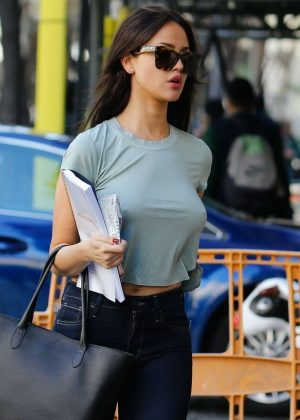 Eiza Gonzalez - Arriving on the set of her new film 'Paradise Hill' in Spain