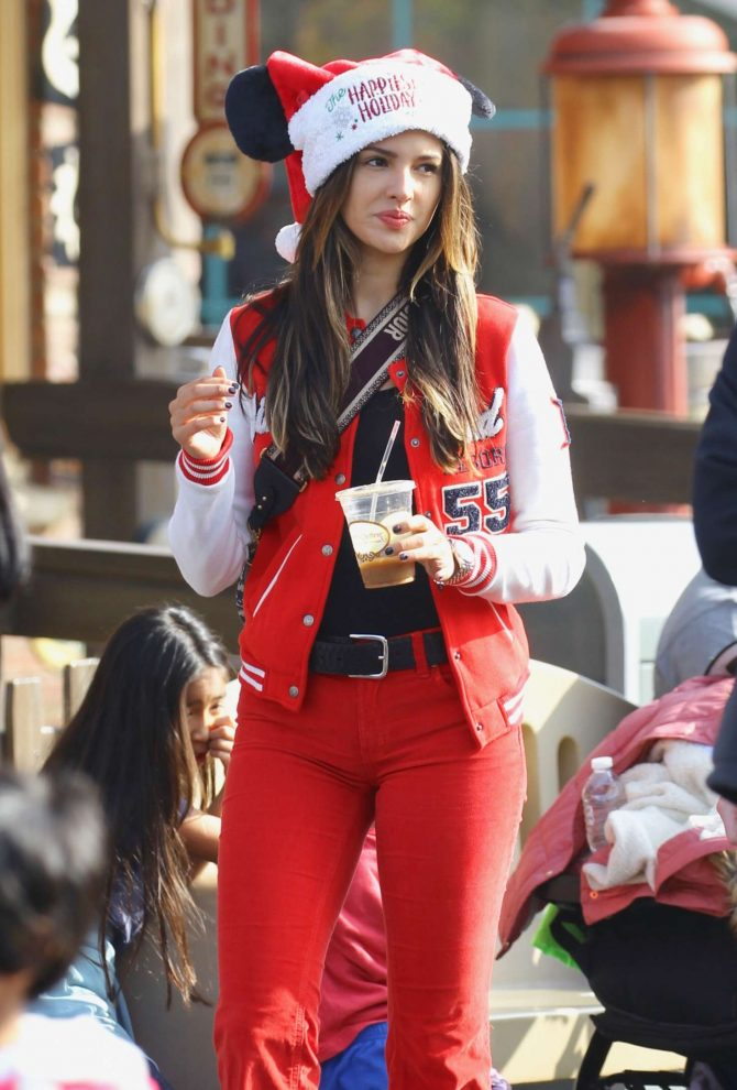 Eiza Gonzalez at Disneyland Park with her family in Los Angeles
