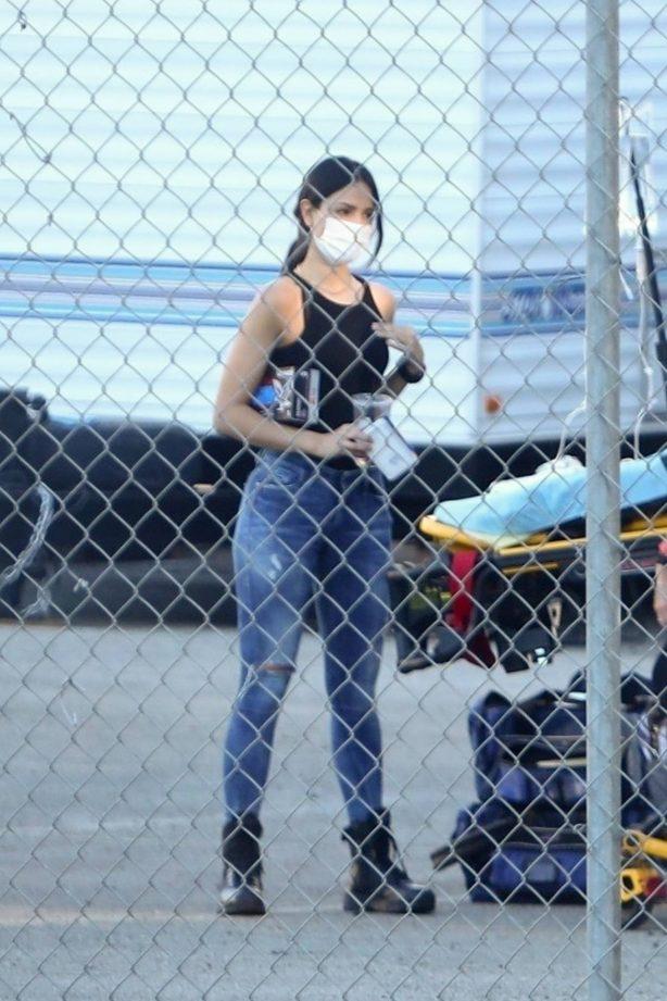 Eiza Gonzalez - Filming 'Ambulance' in Los Angeles