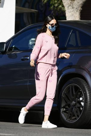 Eiza Gonzalez - In a Pink Sweatsuit Out on a Coffee in Los Angeles