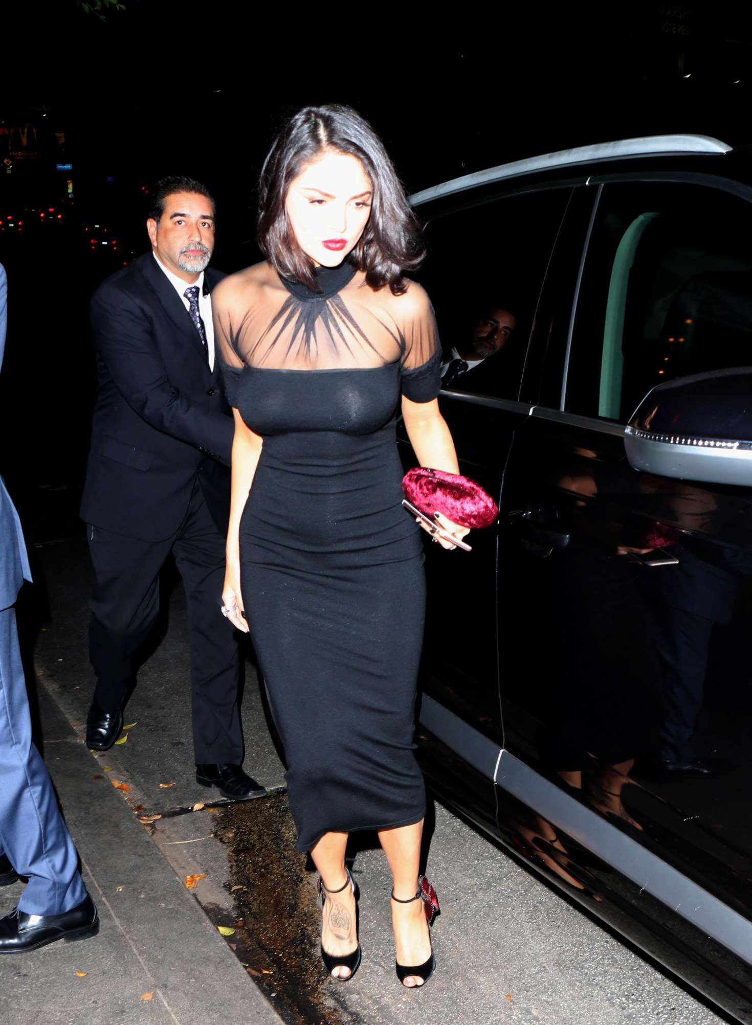 Eiza Gonzalez In Black Dress Leaves Chateau Marmont In