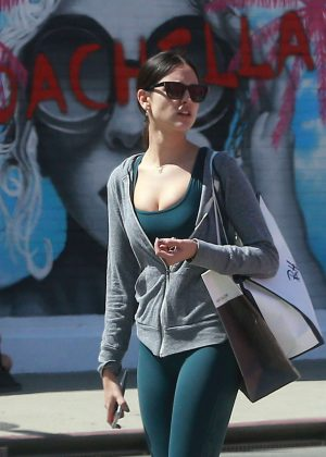 Eiza Gonzalez in Green Tights Shopping in West Hollywood