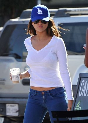 Eiza Gonzalez in Jeans Out For Lunch in West Hollywood