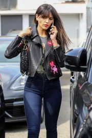 Eiza Gonzalez in Leather Jacket - Out in Beverly Hills