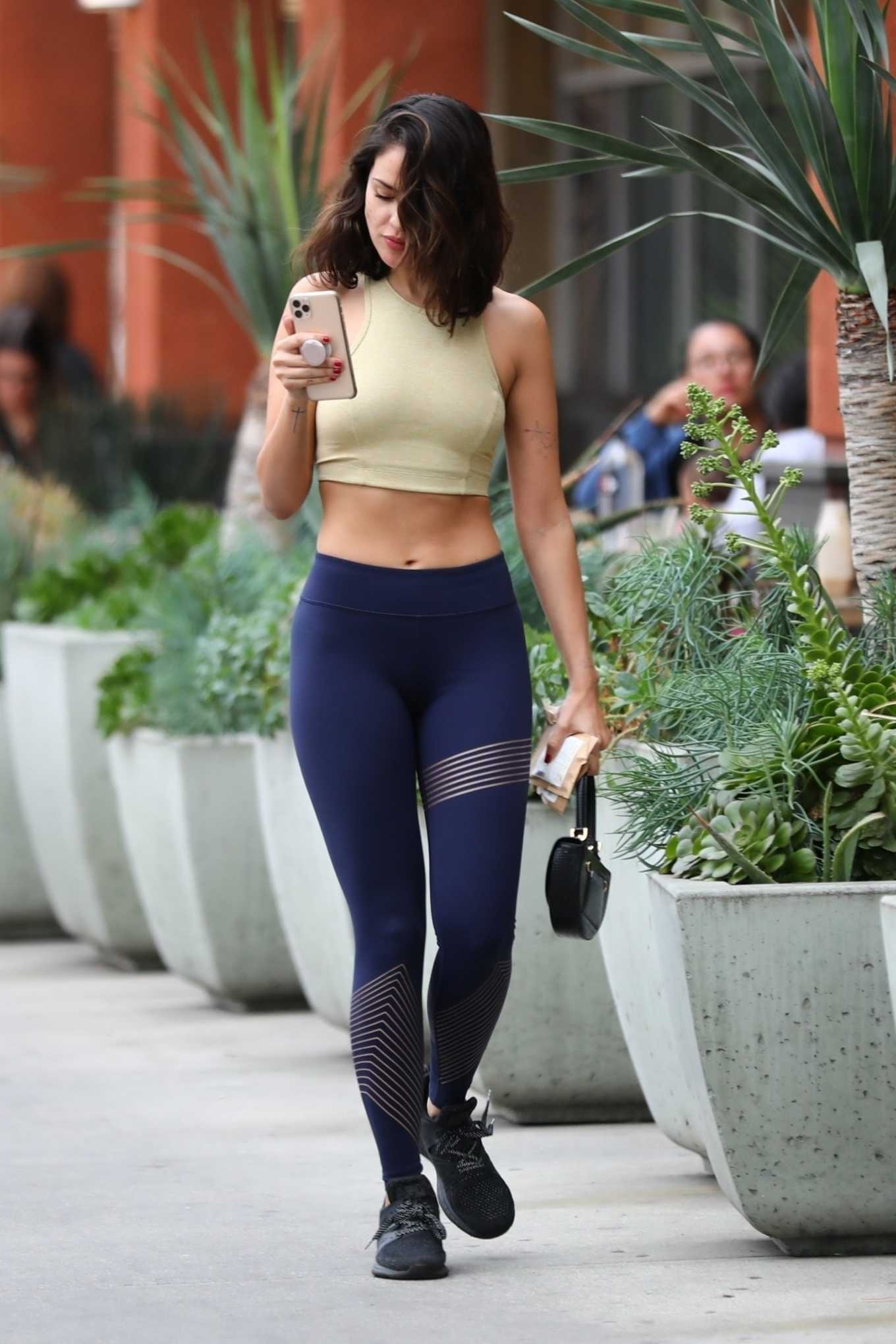 Eiza Gonzalez - In leggings seen leaving Erewhon Market in LA