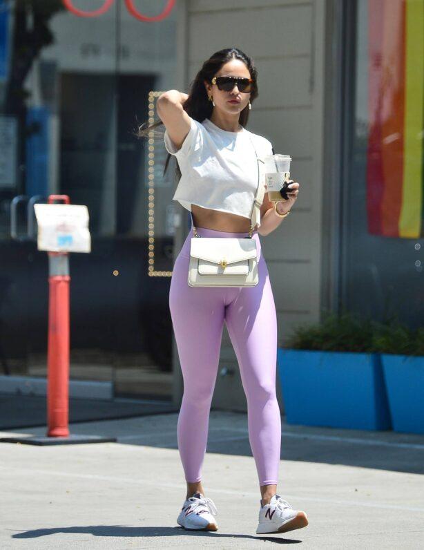 Eiza Gonzalez - In pink leggings in Los Angeles