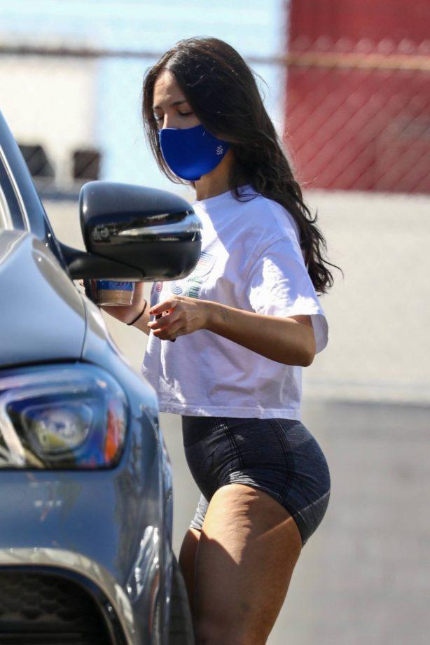 Eiza Gonzalez - In shorts leaving a gym in West Hollywood