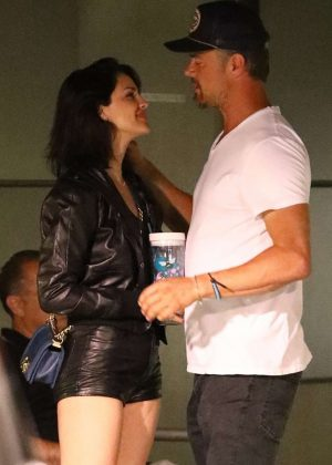 Eiza Gonzalez in Shorts with Josh Duhamel - Out in Hollywood