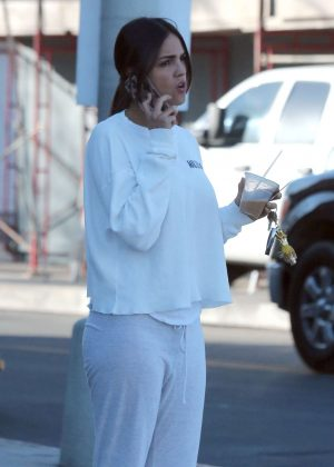 Eiza Gonzalez in White out in Hollywood