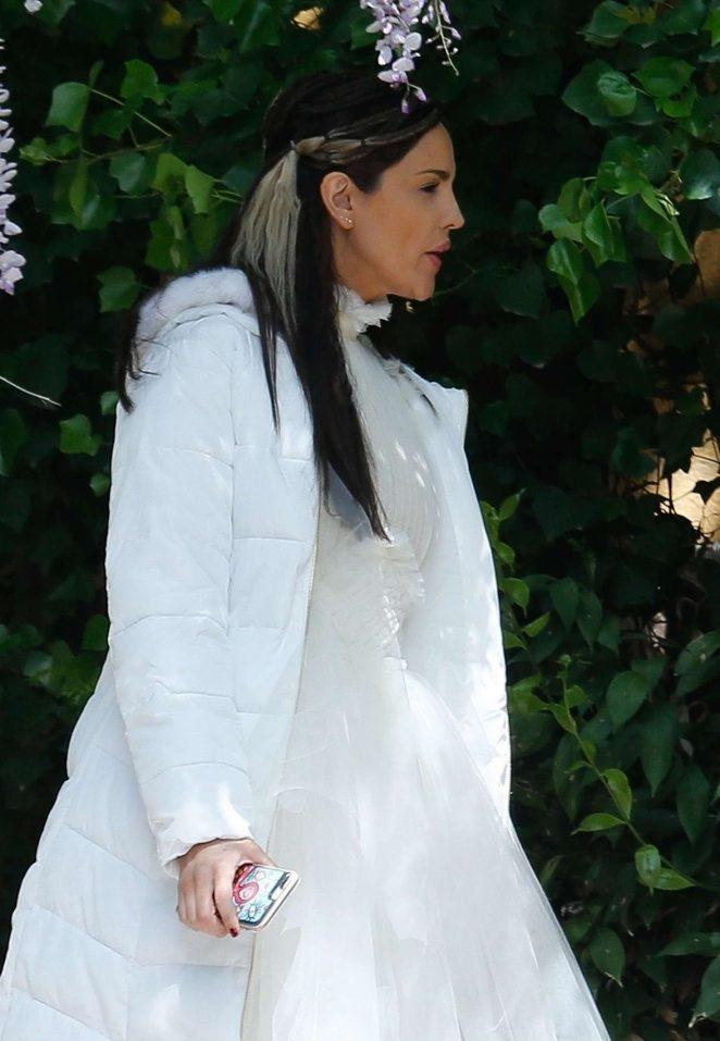 Eiza Gonzalez on set TV series 'Paradise Hills' in Barcelona