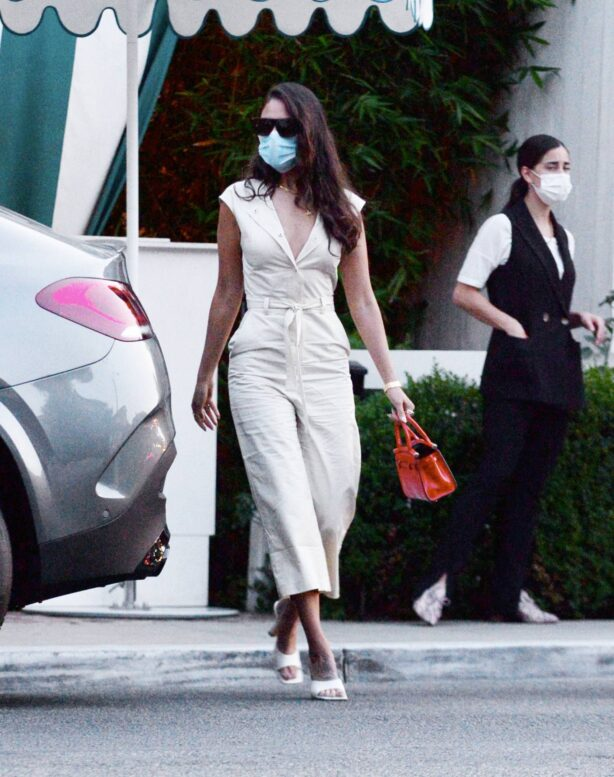 Eiza Gonzalez - Seen leaving the San Vicente Bungalos in West Hollywood