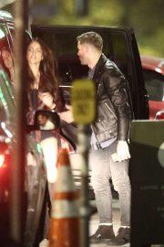 Eiza Gonzalez - Valentine's Day dinner date with NFL star Julian Edelman in Hollywood