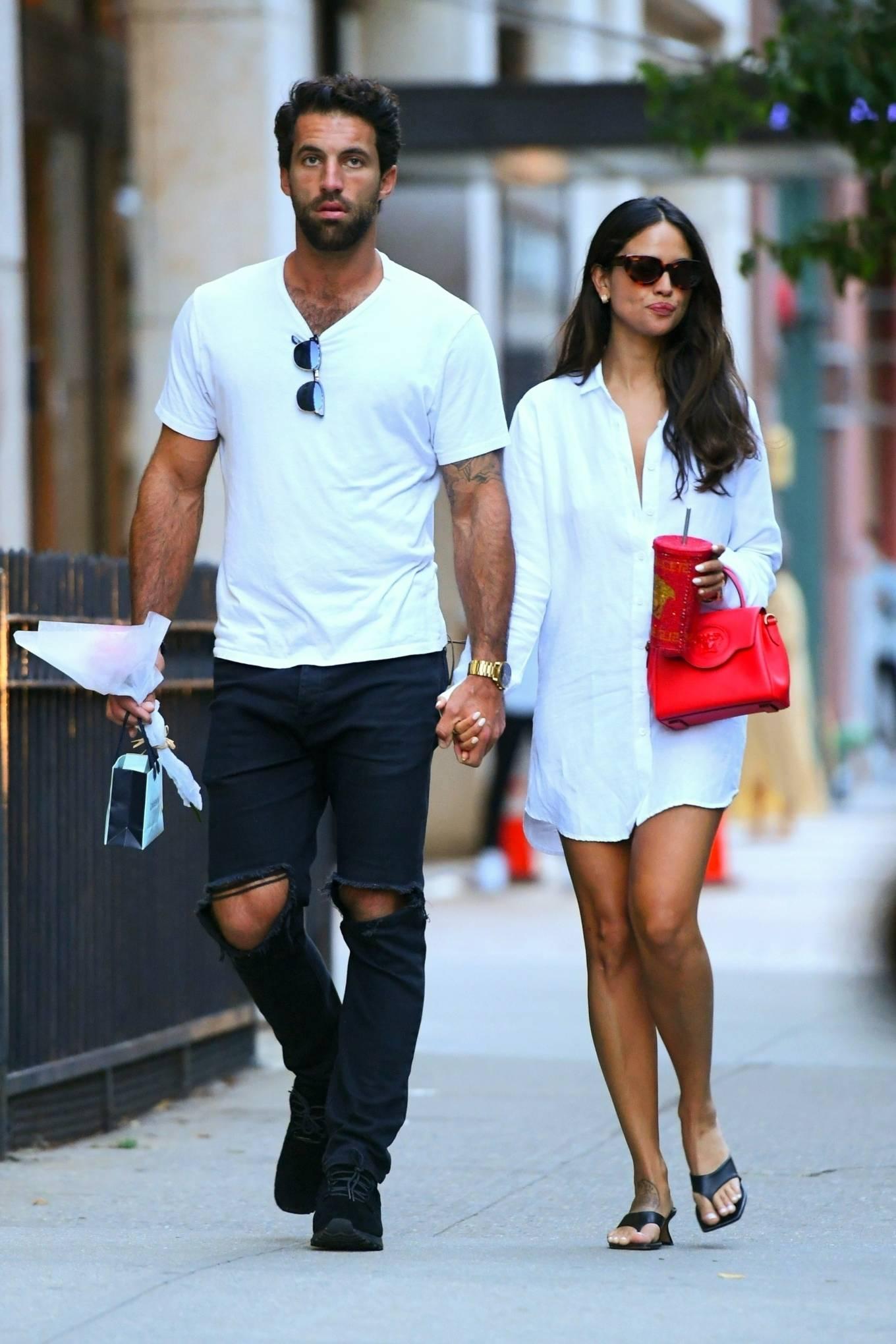 Eiza Gonzalez - With her boyfriend Paul Rabil on a stroll in New York