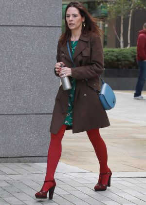 Elaine Cassidy at Media City in Salford