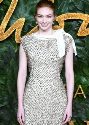 Eleanor Tomlinson - 2018 British Fashion Awards in London