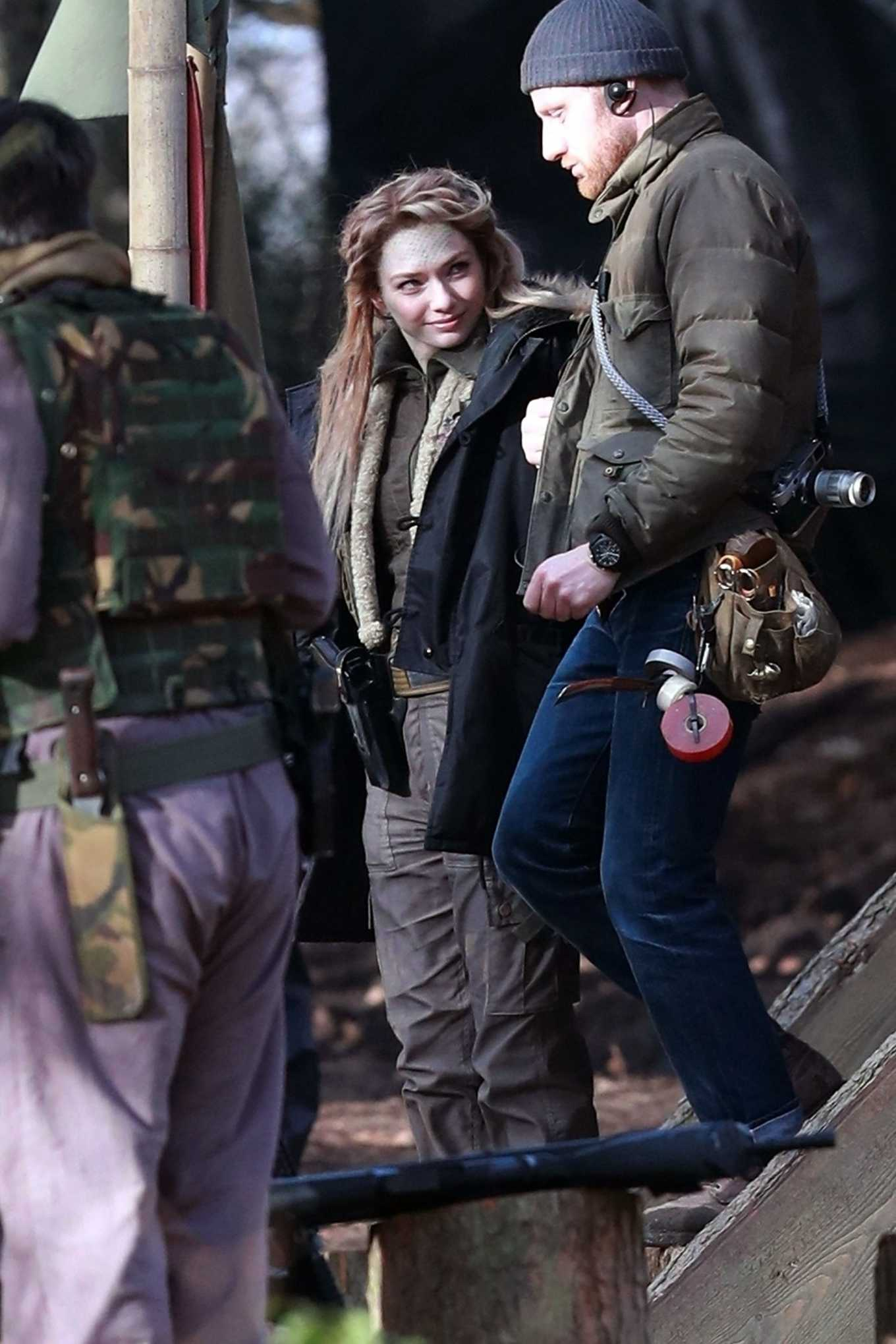 Eleanor Tomlinson 2020 : Eleanor Tomlinson – Filming scenes for the upcoming Sky Drama Intergalactic in Cheshire-02