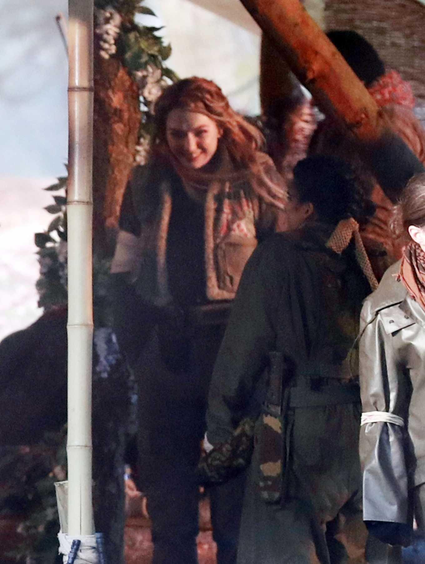 Eleanor Tomlinson 2020 : Eleanor Tomlinson – Filming scenes for the upcoming Sky Drama Intergalactic in Cheshire-03