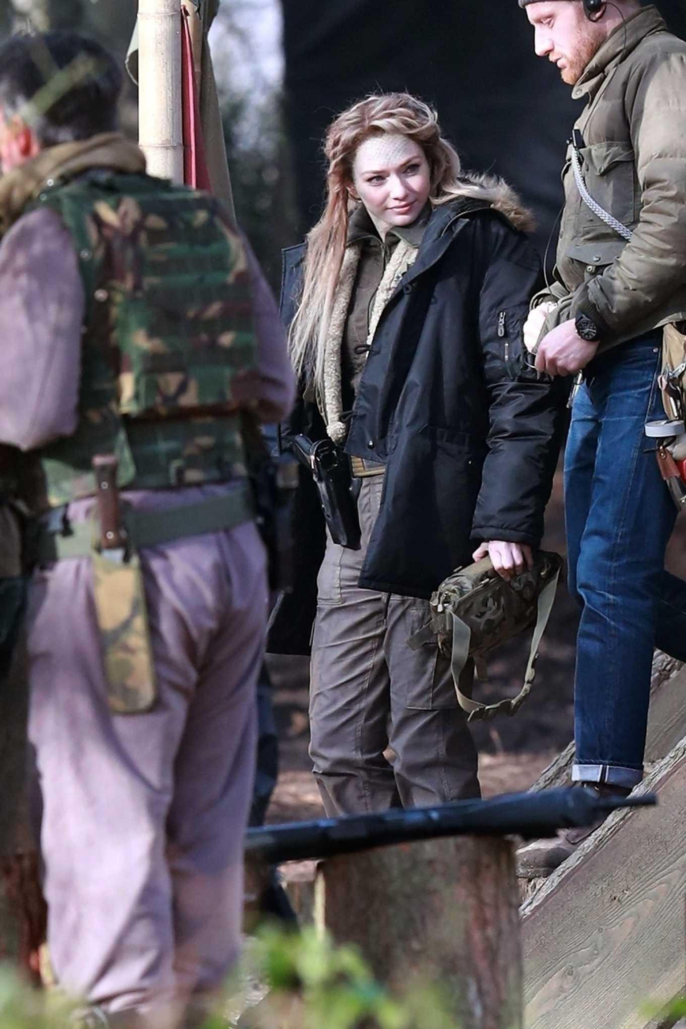 Eleanor Tomlinson 2020 : Eleanor Tomlinson – Filming scenes for the upcoming Sky Drama Intergalactic in Cheshire-11