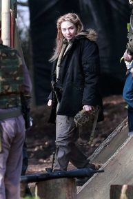 Eleanor Tomlinson - Filming scenes for the upcoming Sky Drama Intergalactic in Cheshire