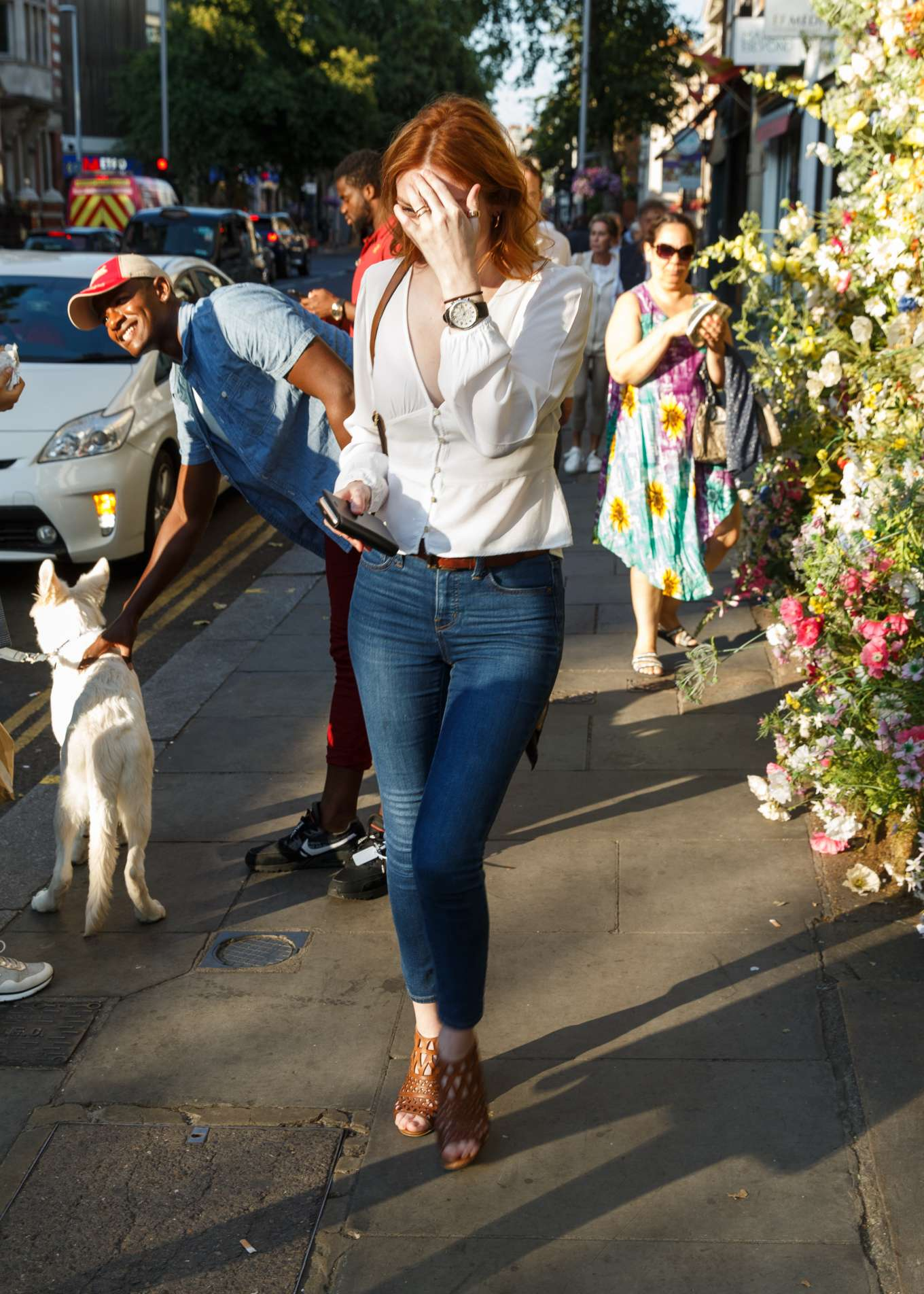 Eleanor Tomlinson - Leaving Ivy Chelsea Garden in London