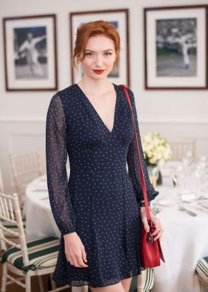 Eleanor Tomlinson - The Polo Ralph Lauren VIP Suite at Wimbledon Tennis Championships in London