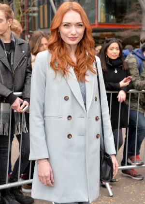 Eleanor Tomlinson - Topshop Unique Show at 2017 LFW in London