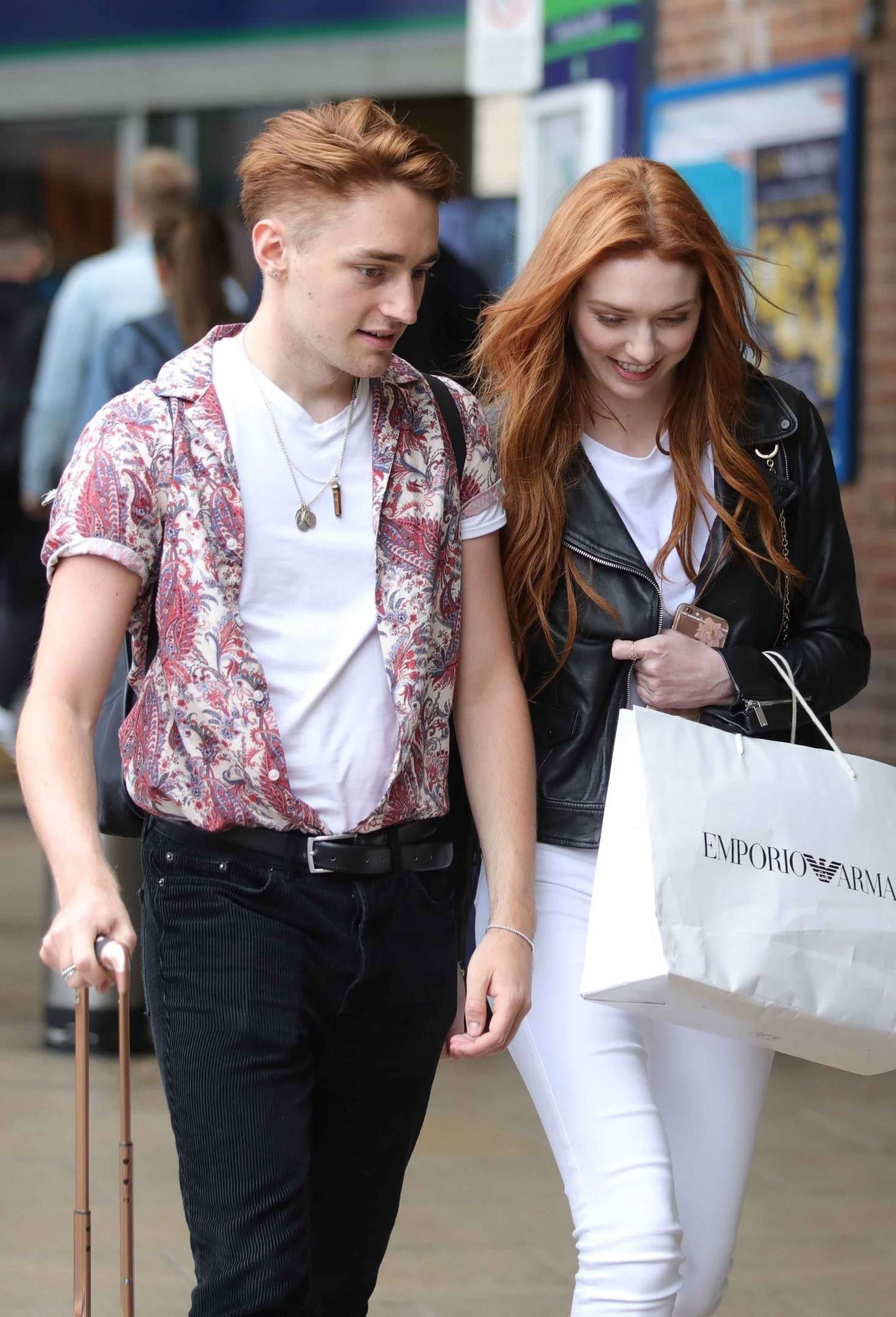 Eleanor Tomlinson with her brother in Leeds