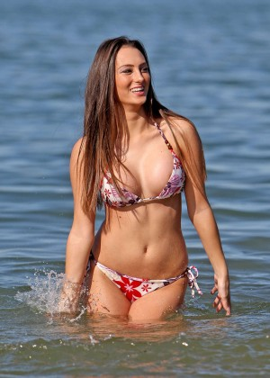 Elena Clarke in Bikini at the beach in Essex
