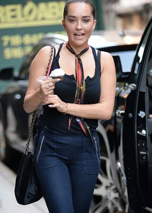 Elena Sahatciu Ora in Jeans Out in New York City