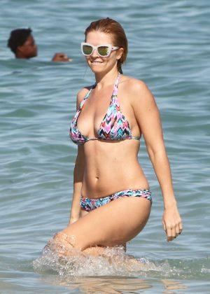 Elena Samodanova in Bikini on Miami Beach