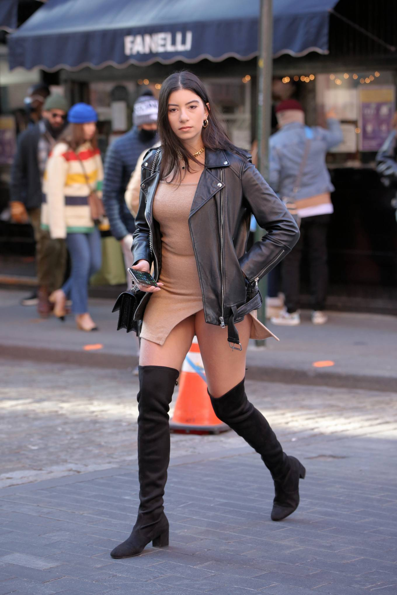 Elif IyiBudar - Out in short revealing dress in Soho in New York