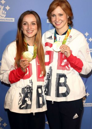 Elinor Barker and Joanna Rowsell - National Lottery Awards 2016 in London