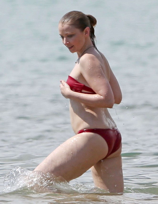 Elisabeth Harnois in Red Bikini in Miami