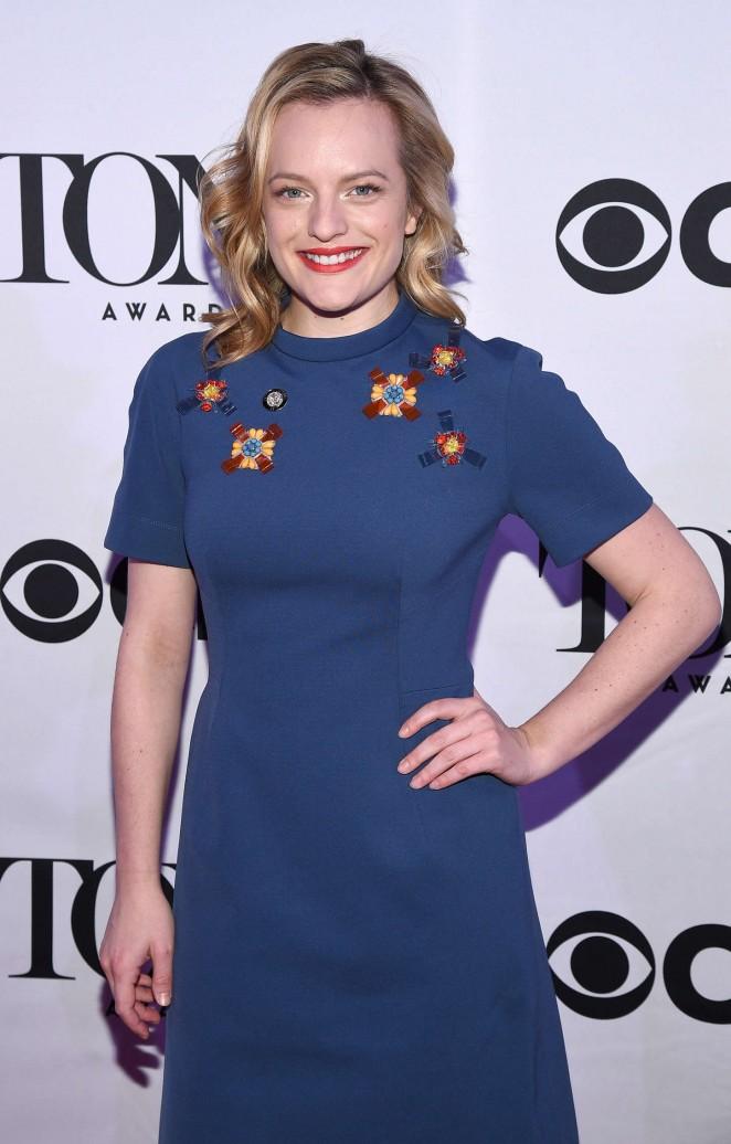 Elisabeth Moss - 2015 Tony Awards Meet The Nominees Press Reception in NYC